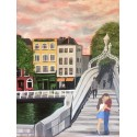 €50 Ha'penny Bridge A3 Acrylic Watercolour