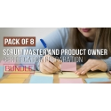 $/€/£55 Pack of 8 - Scrum Master and Product Owner Certification Preparation Bundle