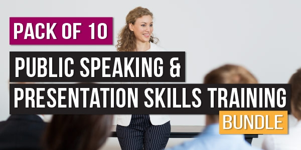 $/€/£79 Pack of 10 - Public Speaking & Presentation Skills Training Bundle