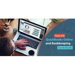 $/€/£72 Pack of 6 - Quickbooks Online and Bookkeeping Secrets Bundle