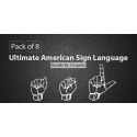 $/€/£102 Pack of 8 - Ultimate American Sign Language Bundle By 3 Experts