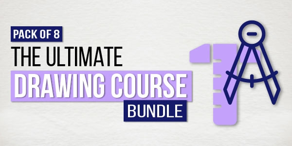 $/€/£55 Pack of 8 - The Ultimate Drawing Course Bundle