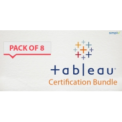 $/€/£48 Pack of 8 - Tableau Certification Bundle