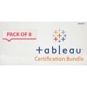 $/€/£48 Pack of 8 - Tableau Certification Bundle
