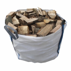 €80 Seasoned Dry Firewood 1 Tonne Bag (Bulk Bag)