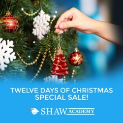 98.73% Discount. 'Twelve days of Christmas' @ The Shaw Academy Online Training Courses