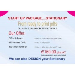 €166.60. Was €196. 250 Letterheads, Business Cards, Compliment Slips