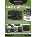 €420 DOMUS Farm Waste Plastic Bin inc. Deliver