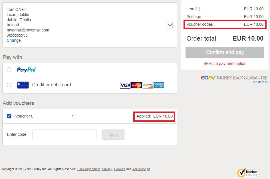 10 Off Ebay Ie With Paypal Unlimited Use No Min Amount